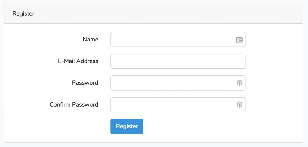 Registration Step 1